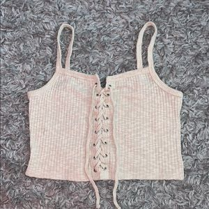FOREVER 21 TIE UP TAN CROP